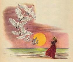 Сказка дикие лебеди г х андерсон