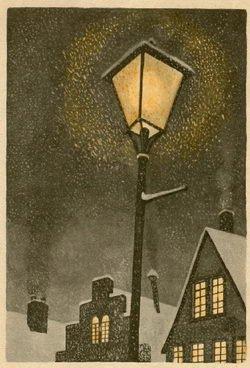 Старый уличный фонарь андерсон